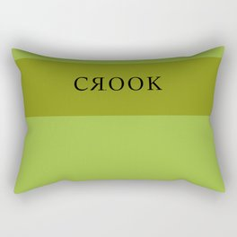 Lime Green Crook Rectangular Pillow
