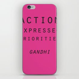 Action Gandhi Quote iPhone Skin