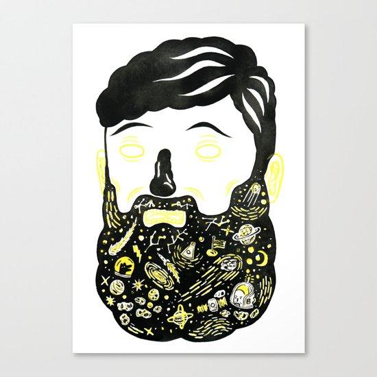 Space Beard Guy Canvas Print