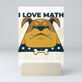 I Love Math Mini Art Print