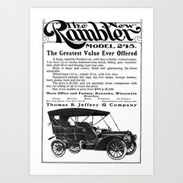 The Rambler, Model 245 Art Print