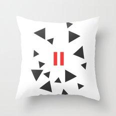 Opposite III Pause Throw Pillow