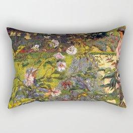 Garden at Vaucresson by Édouard Vuillard - Les Nabis Oil Painting Rectangular Pillow