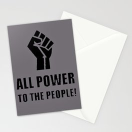 Power to the People Stationery Cards