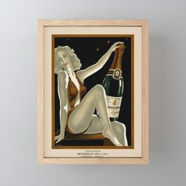 Vintage 1930 Bourgeois Pre-fils Champagne Lithograph Advertisement Poster Framed Mini Art Print