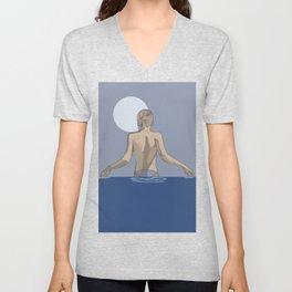 Swim with the moon Unisex V-Neck