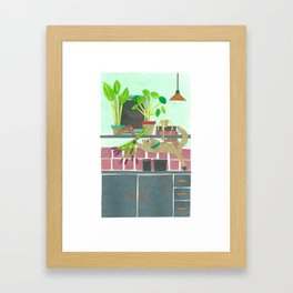 The cat and the mice Framed Art Print