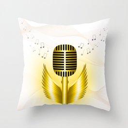 Soaring music Throw Pillow
