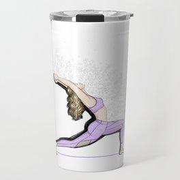 Yoga girls - warrior pose Travel Mug