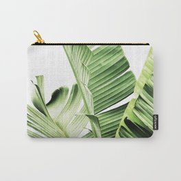 Banana leaves, Leaf, Plant, Modern, Wall Art, Tropical Carry-All Pouch