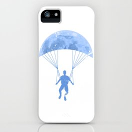Paragliding By The Moon iPhone Case