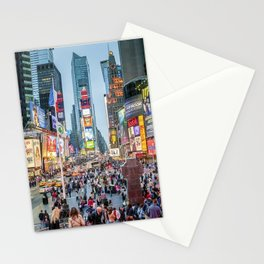 Times Square Tourists Stationery Cards