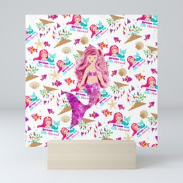 Dream Big Little Mermaid Mini Art Print