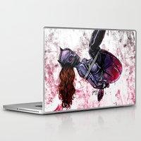 bondage Laptop & iPad Skins featuring Bondage Catwoman by lucille umali