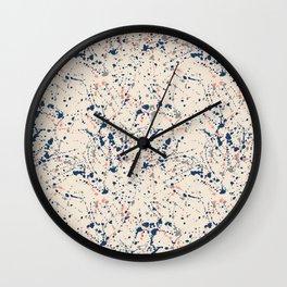 Cream Splatter Wall Clock
