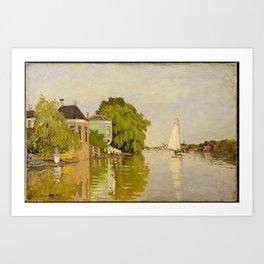 Claude Monet - Houses on the Achterzaan (1871) Art Print