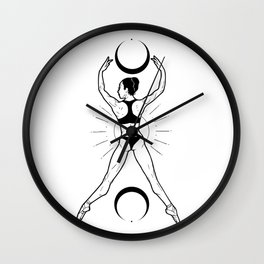Daughter of a witch Wall Clock