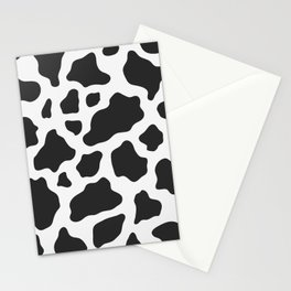 Black and White Cow Print Stationery Cards