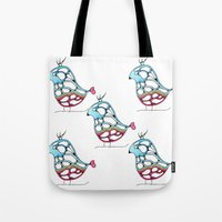 eagle Tote Bags featuring Eagle by Gosia&Helena