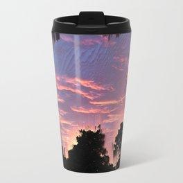 Slashed Sunset Metal Travel Mug