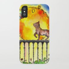 Cat and Butterfly iPhone X Slim Case