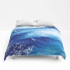 Blue Ocean Water Waves Comforters