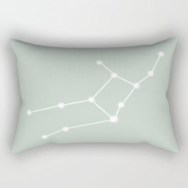 Virgo Zodiac Constellation - Sage Rectangular Pillow