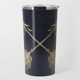 Arrows Gold Copper Bronze on Navy Blue Travel Mug
