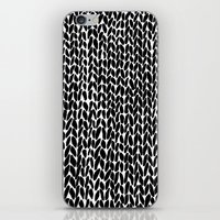 lawyer iPhone & iPod Skins featuring Hand Knitted Black S by Project M