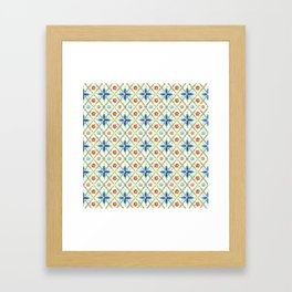 Millefiori Heraldic Lattice Framed Art Print