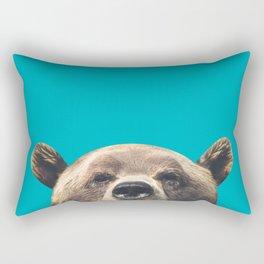 Bear - Blue Rectangular Pillow