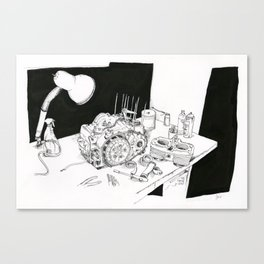 Workbench Canvas Print