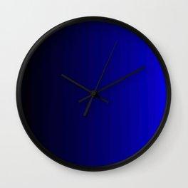 Rich Vibrant Indigo Blue Gradient Wall Clock