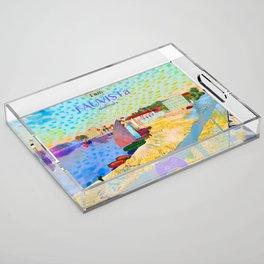 FAUVISTa Sailboats Acrylic Tray