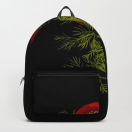 Paeonia Tenuifolia Mary Delany Vintage British Floral Flower Paper Collage Black Background Backpack
