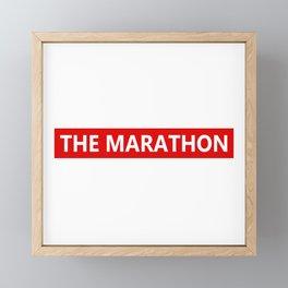 The marathon Framed Mini Art Print