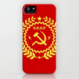 Communist Hammer & Sickle CCCP Badge Design iPhone Case