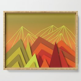 The Secret Mountains Serving Tray