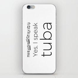 I speak tuba iPhone Skin