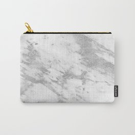 Marble - Silver and White Marble Pattern Carry-All Pouch
