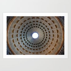 Pantheon Dome in Rome, Italy Art Print