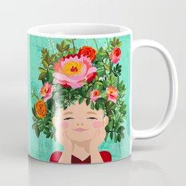 Spring Flower Girl Coffee Mug