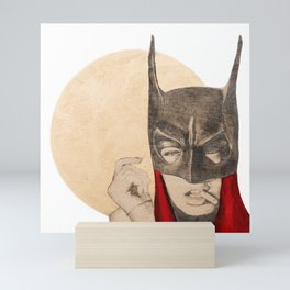 Who says I'm batgirl Mini Art Print