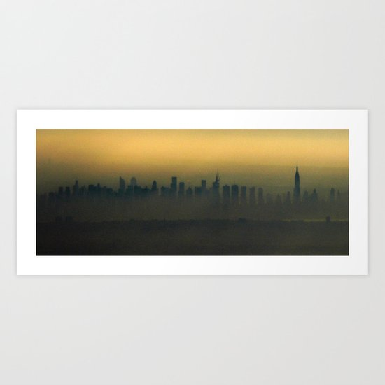 New York, NYC from air Art Print