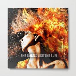 Muse Sunburn Metal Print