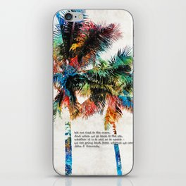 Colorful Palm Trees - Returning Home - By Sharon Cummings iPhone Skin