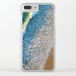 Waves on The California Coast Aerial Nature Photography Clear iPhone Case