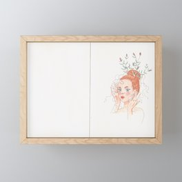Lavender Girl Framed Mini Art Print
