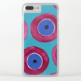 Eyes watching after you Clear iPhone Case