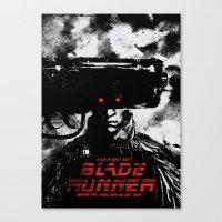 blade runner Canvas Prints featuring Blade Runner by Dan K Norris